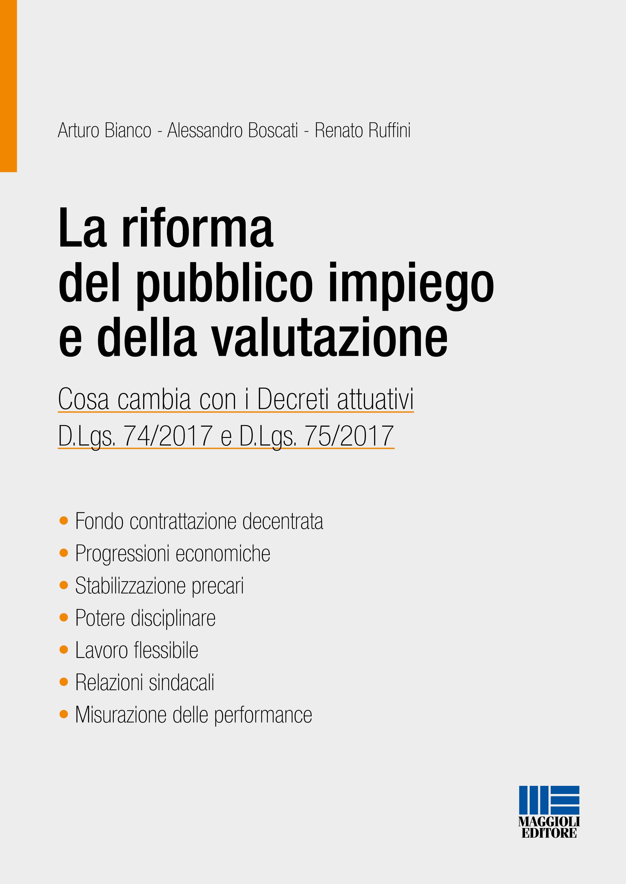 La riforma del pubblico impiego e della valutazione