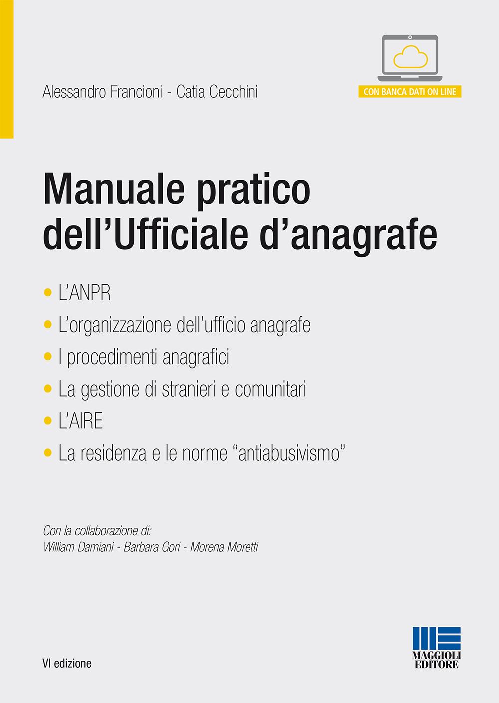 Manuale Pratico dell\'Ufficiale d\'Anagrafe